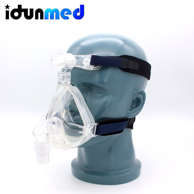 idunmed CPAP Full Face Mask With Forehead Adjustable Strap Clips For Mouth Nose Sleep Apnea Anti Snoring Treatment Solution 4