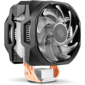 Image 2 - Soğutucu ana 6 bakır isı borusu CPU soğutucu T610P Intel 1155 1156 AMD AM4 CPU radyatör 12cm rgb 4pin soğutma CPU fan PC sessiz