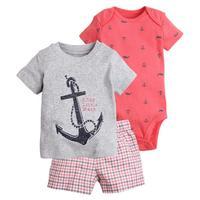 New Arrive 2017 Toddler Baby Boy Summer Clothing Set Kids Boy Clothes Set Bodysuit T Shirt