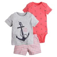 New Arrive 2017 Toddler Baby Boy Summer Clothing Set Kids Boy Clothes Set Bodysuit T Shirt