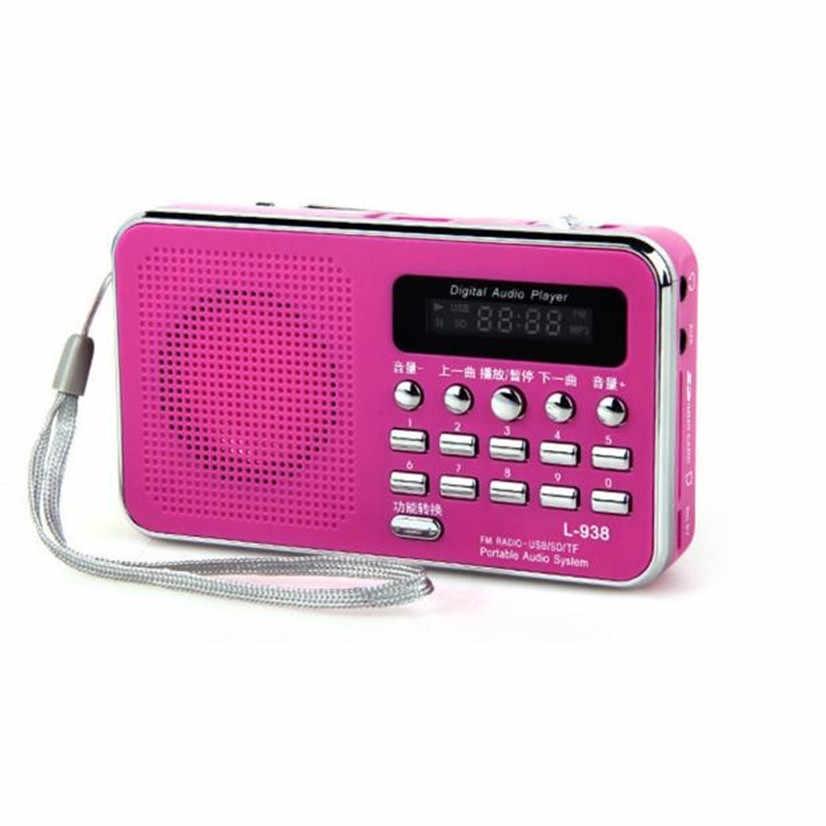 Factory price Hot New Mini Digital Portable Music MP3 Player Micro SD/TF Card Speaker FM Radio Sept13