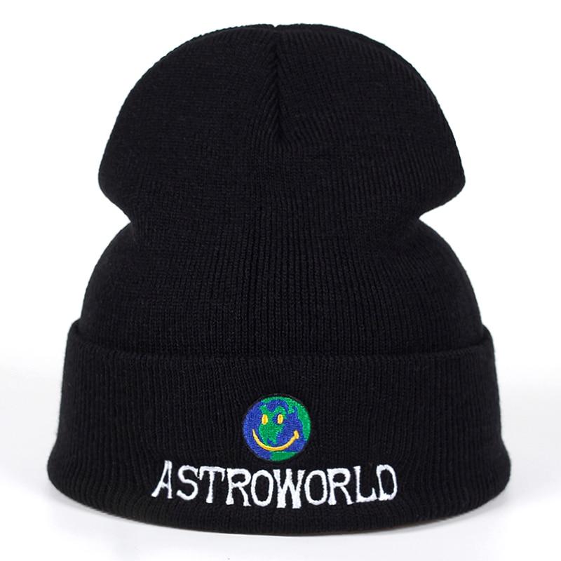 2020 New Travi$ Scott Beanie ASTROWORLD Knit Cap Embroidery Astroworld Ski Warm Winter Unisex Travis Scott Ski Skullies & Beanie
