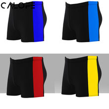 CALOFE Striped Printed Men's Beach Shorts Elastic Summer Board Bottoms Wear Sport Breathable Surfing Swim Shorts Board Swimwear(China)