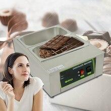 2PC 2 lattice Chocolate melting pot, commercial chocolate melter, baking machine