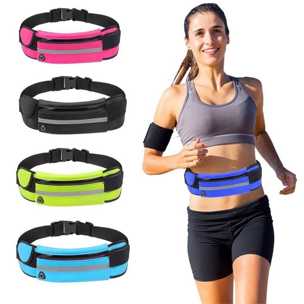 Multifunction Sports Waist Bag Wallet Water Bottle Pouch Bag Waterproof Mobile Phone Bag for Outdoor Running Cycling