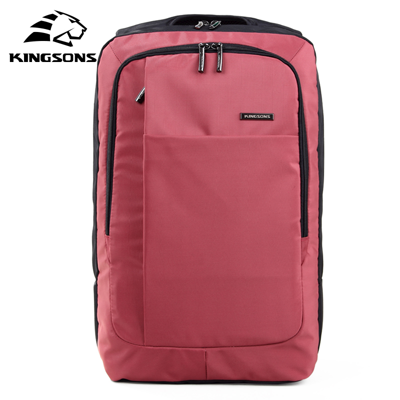 Kingsons Red Green Gray Bag 15.6 Inch Laptop Backpack Men's Escolar Mochila Camelback School Bags for Teenagers