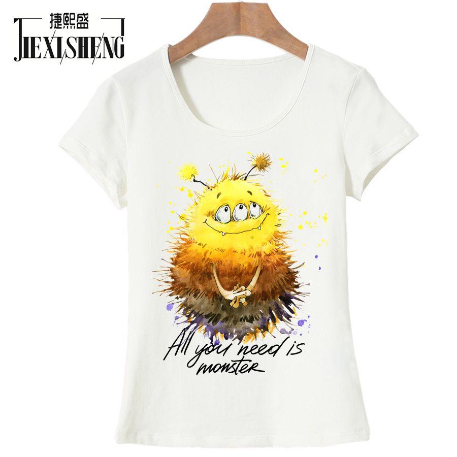 2017 New Brand Summer T-shirts For Women Tops O-Neck Female Cute Cartoon Printed T-shirt Casual Tshirt
