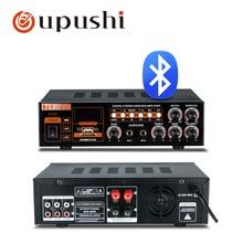 Bluetooth цифровой av усилитель 2 канала караоке стерео усилитель домашний лучший усилитель с USB, sd-картой для караоке звуковая система