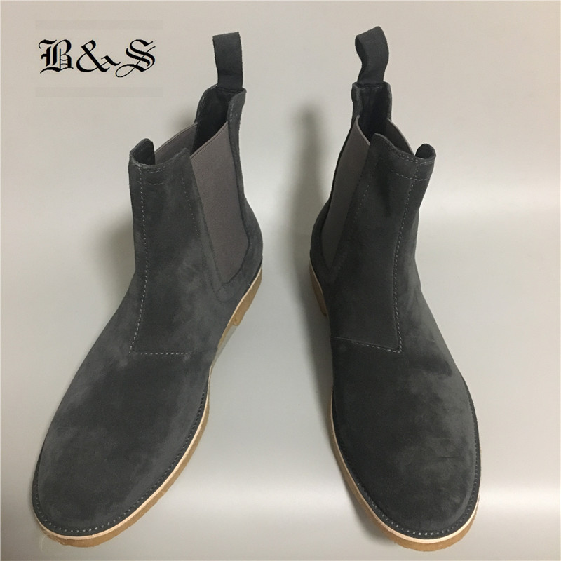 Black& Street Exclusive Quality Handmade West Suede Leather Chelsea Boots Plus Size47 Handsome Men Cool Street Catwalk BootsBlack& Street Exclusive Quality Handmade West Suede Leather Chelsea Boots Plus Size47 Handsome Men Cool Street Catwalk Boots