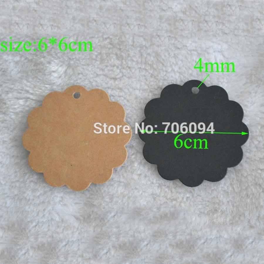 1000pcs lot DIY Blank 6CM round Hang Tag Gift tag Brown Black gift hang tag lable