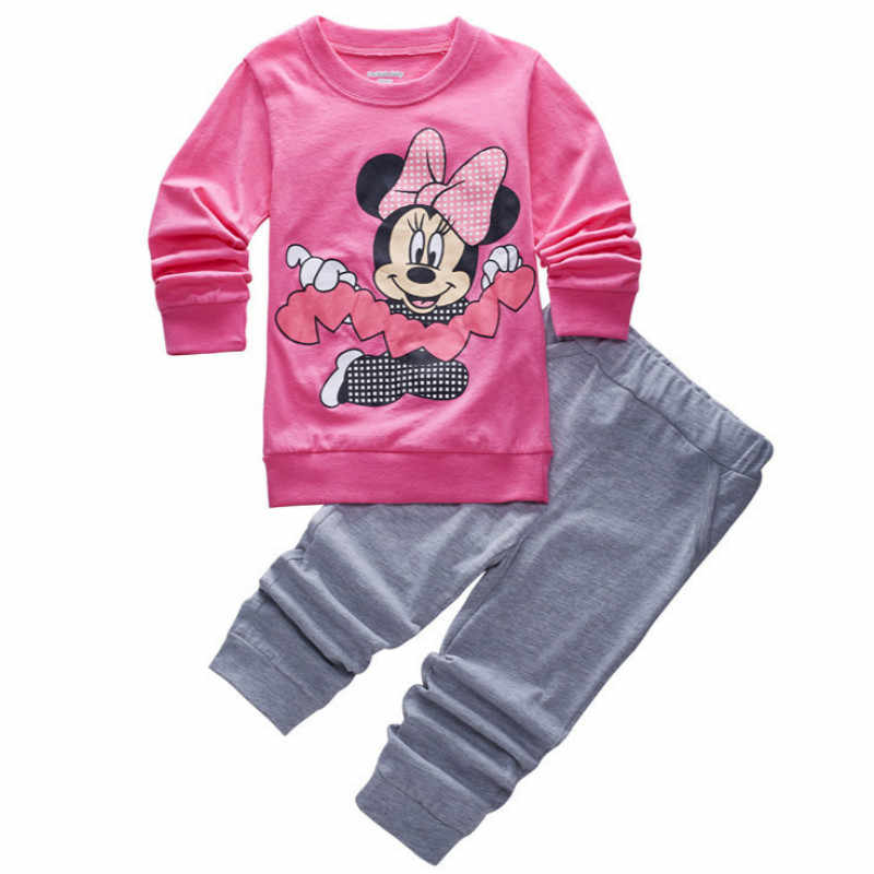2f9561d656a8 Children Pajamas Sets Baby Boys Long Sleeve T Shirts+Pants 2PCS Suits  Pyjamas Kids Cartoon