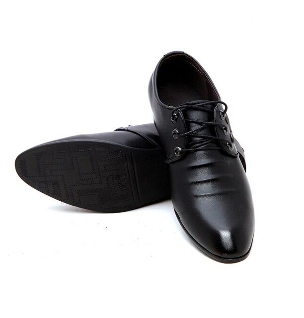 New Business Men Dress Shoes Lace Up Shoes Casual Men Flat Heel
