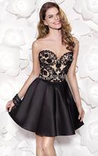 Trägerlosen Schatz Appliques A-linie Kurze Abendkleider Sleeveless Reizvolle Backless Brautkleider Abendkleid 2016