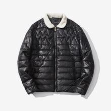 Мужчины Теплое Пальто Мода Зимняя Куртка Мужчины Повседневная Руно Пиджаки тонкий Твердые Пальто Легкий Вес Куртка Hombre Jaqueta Плюс Размер 3XL