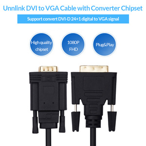 Image 3 - Unnlink Active DVI to VGA Adapter FHD 1080P@60 DVI D 24+1 to VGA Digital Adapter Converter Cable For Laptop Host Graphics Card