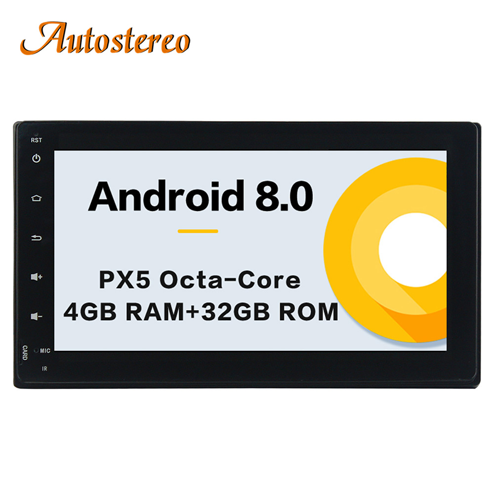 Sale Android 8.0 Car No DVD Player GPS navigation For Toyota Corolla/Fortuner 2016+ Stereo Head unit Multimedia radio tape recorder 0