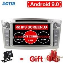 2 din радио Android 9,0 4+ 32 ГБ Автомобильный dvd-плеер для Toyota Avensis 2002-2008 T250 головное устройство Мультимедиа Стерео карта 8 ядерный DSP