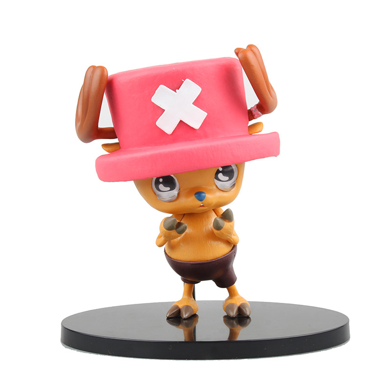 Anime One Piece Crying  Tony Tony Chopper PVC Action Figure Collectible Models Toys 12cm  KT2440 japanese anime cartoon one piece tony tony chopper 2 years later pvc action figures toys 5pcs set with box