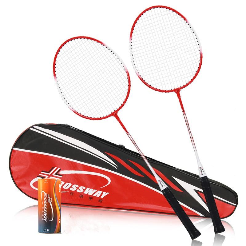 2018 2 pcs Professionnel Raquettes De Badminton de Haute Qualité Crossway Badminton Sport Sports De Raquette Raquette