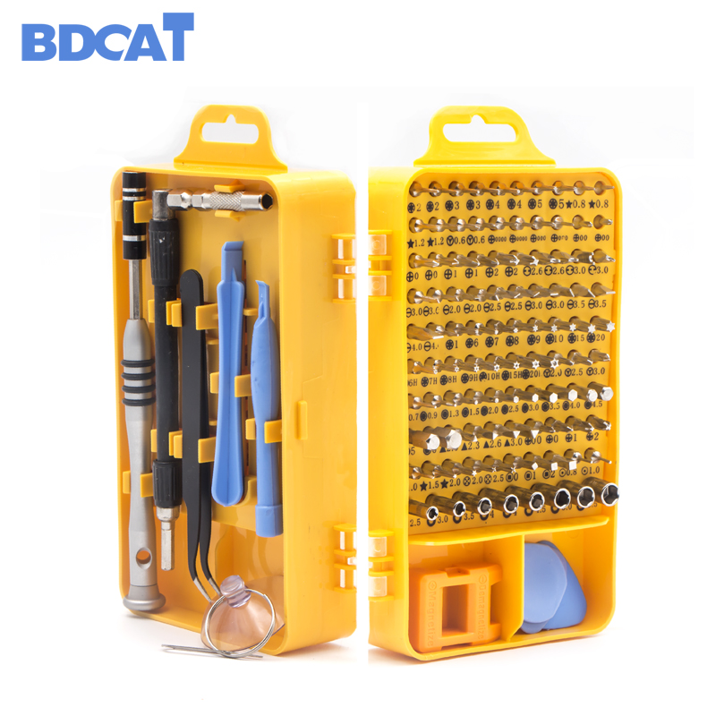 BDCAT 108 in 1 Screwdriver Set Multi-function Computer PC Mobile Phone Cellphone Digital Electronic Device Repair Home Tools Bit
