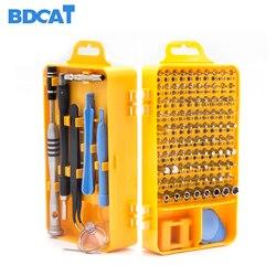 BDCAT gota 108 en 1 destornilladores de múltiples funciones de teléfono móvil ordenador PC dispositivo electrónico Digital reparación mano hogar herramientas Bit