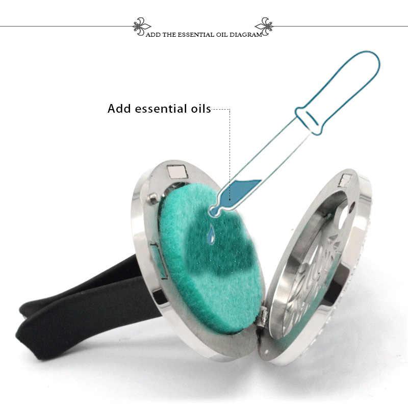 รูปแบบเปลือกหอยน้ำหอม Air Freshener Diffuser โลหะสแตนเลส Vent Freshener น้ำมันหอมระเหยกระจายจี้แฟชั่นเครื่องประดับ