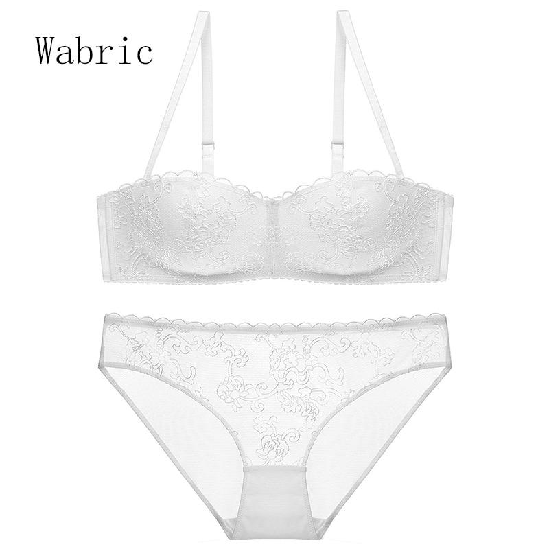 Sous-vêtements femmes mode mince coton demi-tasse haut de gamme dentelle femmes sous-vêtements soutien-gorge ensemble sous-vêtements femmes ensemble