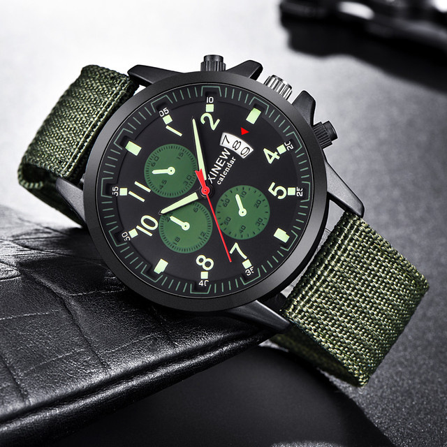 Для мужчин s военные Сталь Военная Дата кварцевые аналоговый армия повседневные платья Наручные часы Для мужчин часы военные часы мужской Masculino