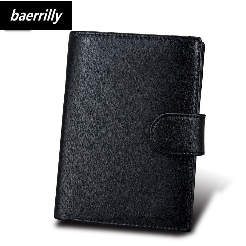Fashion 100% Genuine Leather Men Wallet For Rfid Small Zipper Men Walet Portomonee Male Short Coin Purse Brand Perse Carteira