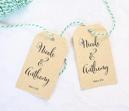 personalized calligraphy name wedding engagement party welcome gift favor tags bridal shower bachelorette insert cards in cards invitations from home
