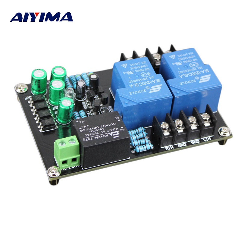 AIYIMA High Power Speaker Protection Board 30A Power Protection Board 2 Channels With Four Lines Separated