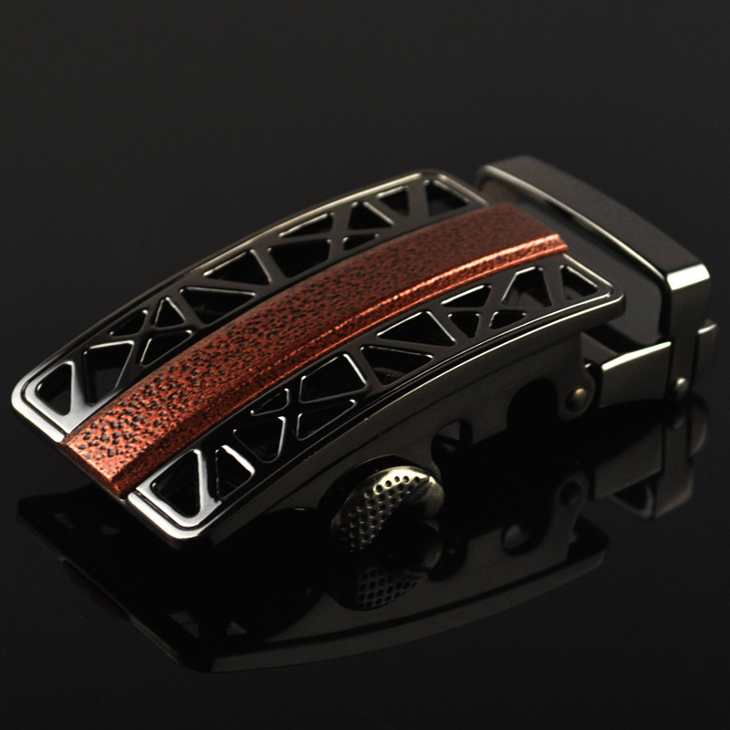 Fashion Men's Business Alloy Automatic Buckle Unique Men Plaque Belt Buckles For3.5cm Ratchet Men Apparel Accessories LY125-0412