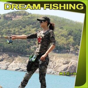 Image 2 - Сумка для рыбалки Dream Fishing 19x6x33 см + футляр для приманки 1200D, нейлоновая поясная сумка для ног, держатель для удочки, инструменты, чехол для хранения, Pesca Bolsa Peche