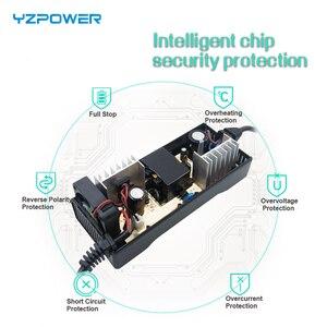 Image 4 - YZPOWER cargador de batería de litio de 42V 3A para patinete eléctrico li poly de 36V 3A, paquete de batería de bicicleta eléctrica con LED y ventilador