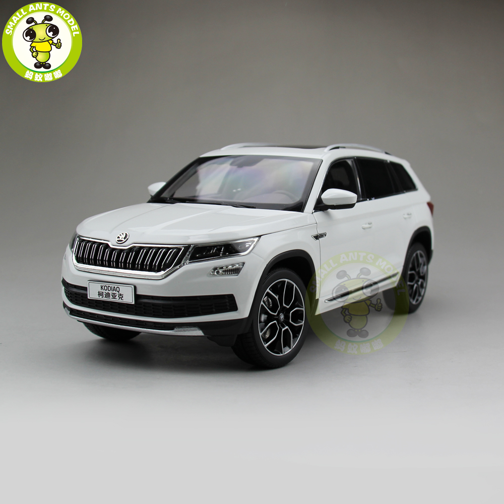 1/18 VW Volkswagen Skoda KODIAQ SUV Diecast Metal SUV CAR MODEL gift hobby collection White фонарь led lenser светодиодный налобный h7r 2 7298