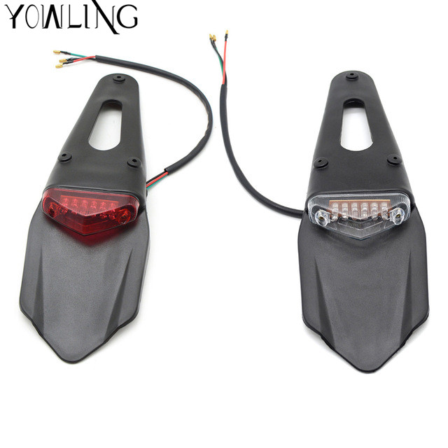 For CRF YZ CR EXC WRF 250 400 426 450 Motorcycle Light Enduro Trial Bike 12 LED Motorbike Brake Stop Rear rear fender Tail Light