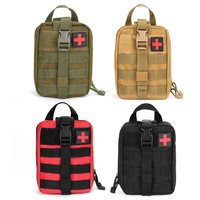Safurance First Aid Kit Tactical Survival Kit Rip Away EMT Pouch Bag IFAK Medical