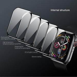 Image 5 - NILLKIN For Apple Watch 4 series 4 Full Cover 3D  tempered glass screen protector 0.33 mm For Apple Watch 3/2/1 (44/40/42/38mm)