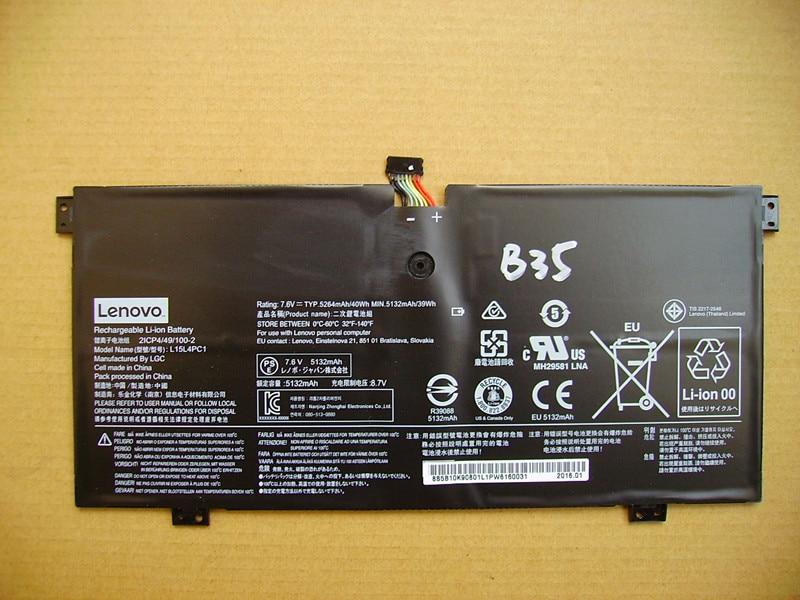 ФОТО Genuine Original Laptop Batteries For LENOVO L15L4PC1 7.6V 40Wh