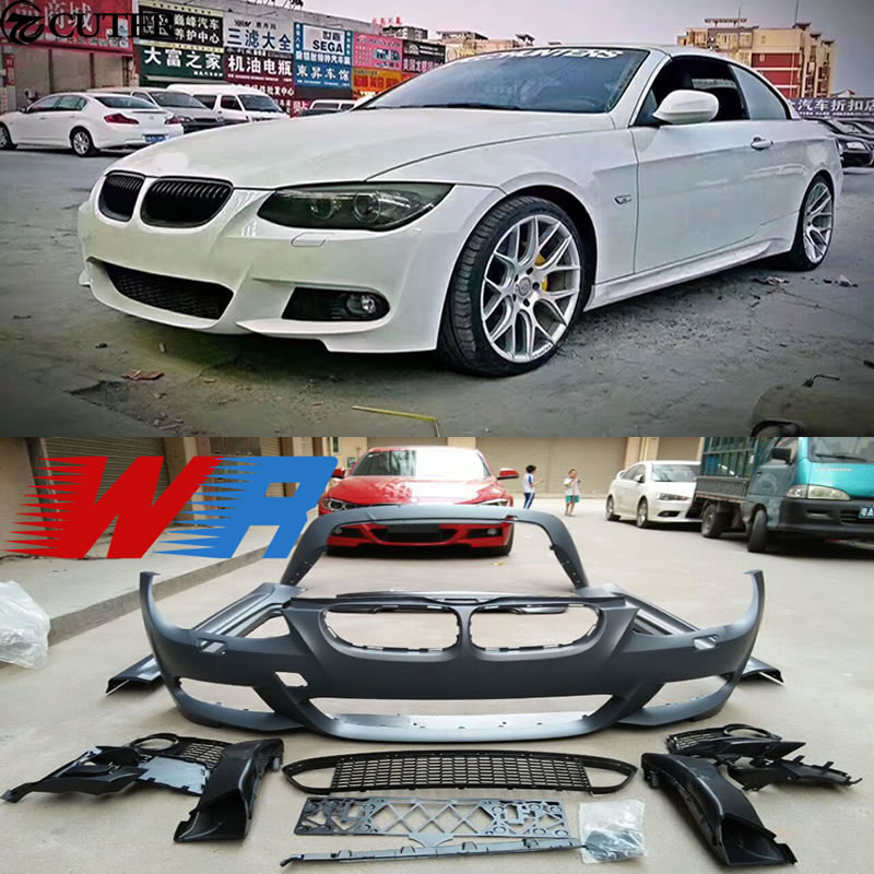 3 Series Carbon Fiber Front Bumper Lip For 2007-2010 BMW E92 E93 2Dr w// M-Tech