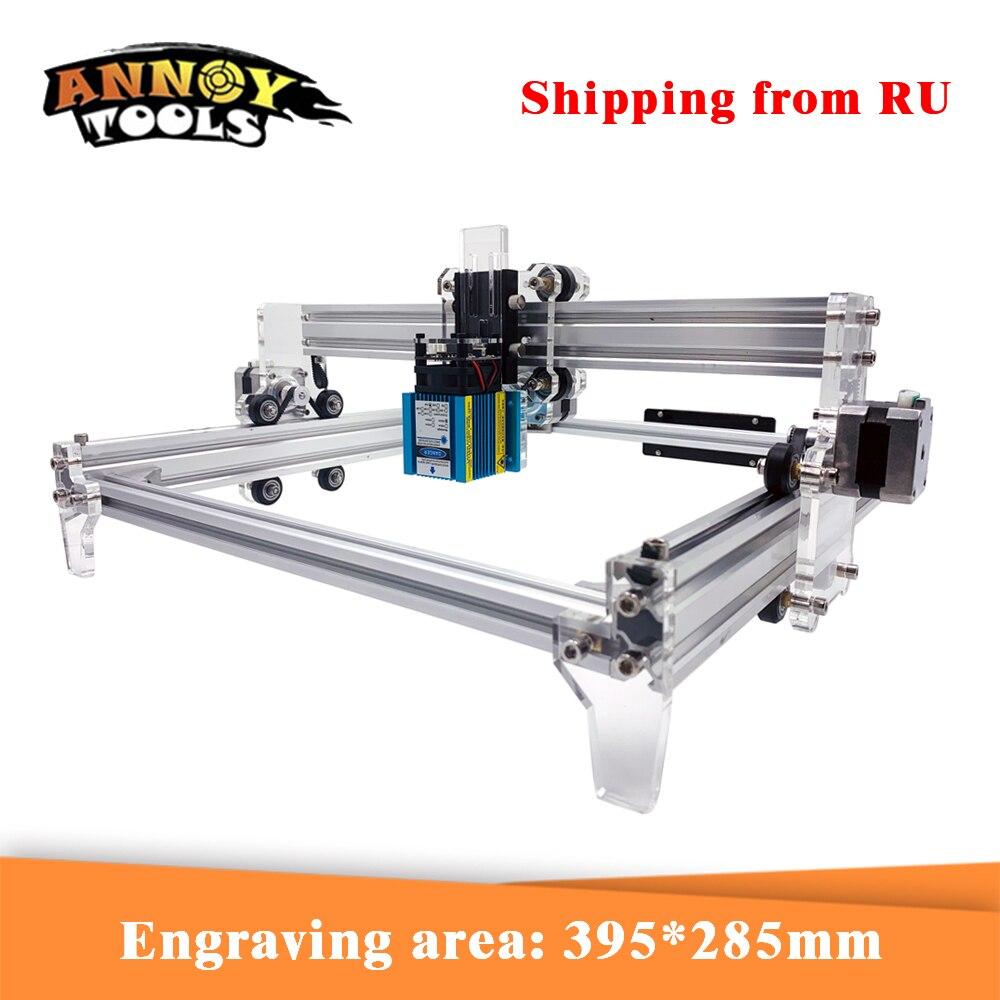 CNC Máquina de Gravação A Laser 2500mW 3500mW 5500mw 15000mw Laser módulo 30*40cm CNC A Laser cortador de Router para Corte De Madeira