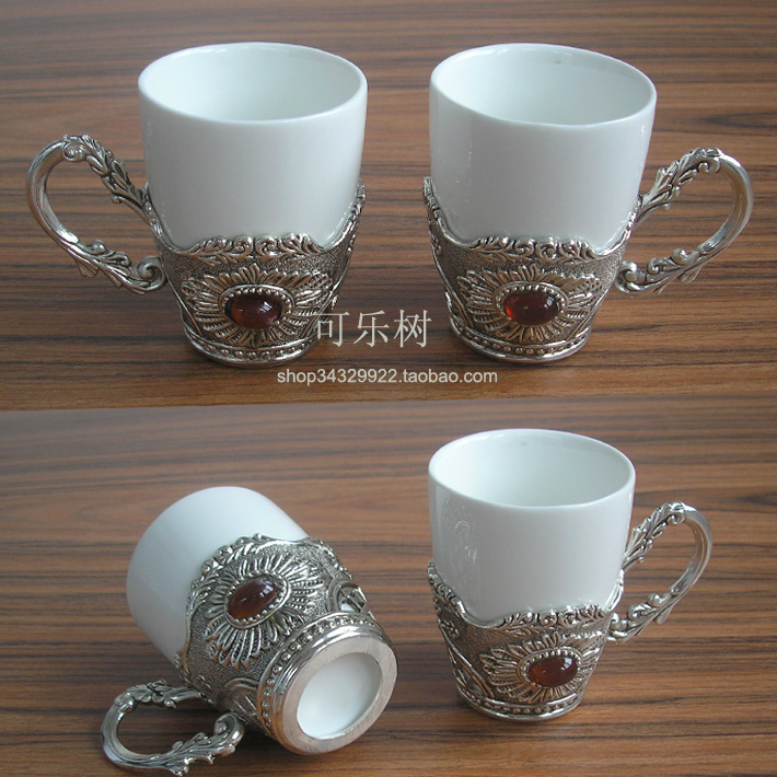 90 Small Coffee Cup Fashion Classical Tea Mugs Ceramic Metal Holder 1263 In From Home Garden On Aliexpress Alibaba Group