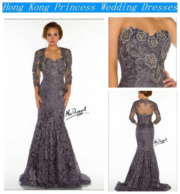2014 neue arrvial arabische designer Brand mutter kleid silber lange ...