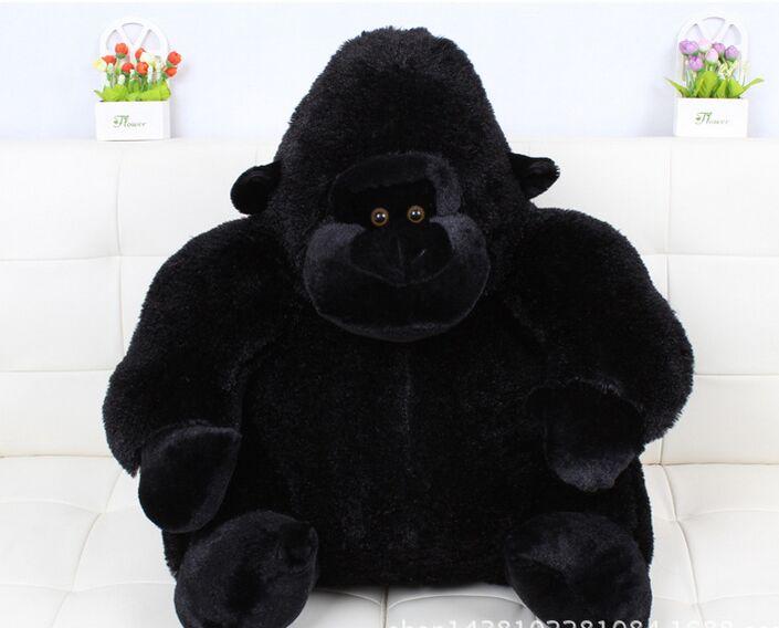 huge creative plush big Ape king kong toy big black orangutan toy gift about 90cm black orangutan 75x85cm chimpanzee plush toy black king kong doll gift w4663