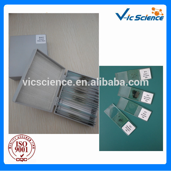 45 pcs mineral and rock thin sections
