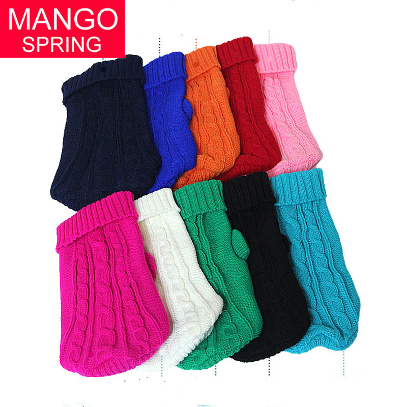 Small Dog Clothes Chihuahua Pet Dogs Cat Knitwear Dog Sweater Puppy Warm Coat Cheap Clothing for Dogs Winter Doggy Costume ...