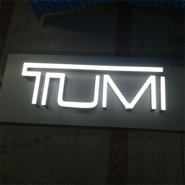 Outdoor 3D Epoxy resin Led illuminated shop name letter board ...