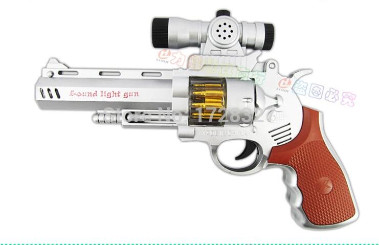 Էլեկտրական խաղալիքները ութ հրացանի խաղալիք են փչացնում Gunfire revolver մոդելավորում կա թեթև երաժշտական էլեկտրական խաղալիք ատրճանակ WJ020