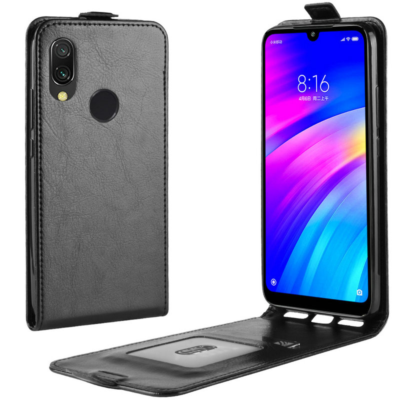 Flip Leather Case for <font><b>Xiaomi</b></font> <font><b>Redmi</b></font> <font><b>7</b></font> for <font><b>Xiaomi</b></font> <font><b>Redmi</b></font> <font><b>Note</b></font> <font><b>7</b></font> <font><b>Pro</b></font> Note7 16GB 32GB 64GB <font><b>128GB</b></font> Retro Wallet Cover Case Capa Etui image