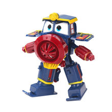 NEW hot 13cm Robot Trains Transformation Kay Alf Dynamic Train Family Deformation Train Car Action Figure Toys Doll for(China)
